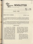 Newsletter: The Center for Professional Ethics, Fall 1992