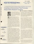 Center for Professional Ethics, Volume 4, Issue 3, 2003 by Case Western Reserve University